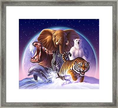 Wild World Framed Print by Jerry LoFaro