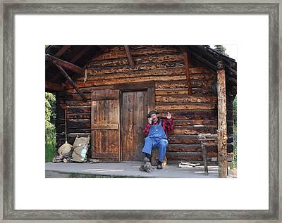 Wilderness Cabin Alaska Framed Print by Jennifer Crites