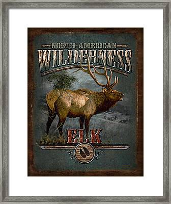 Wilderness Elk Framed Print by JQ Licensing