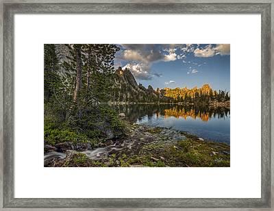 Wilderness Lake Framed Print by Leland D Howard