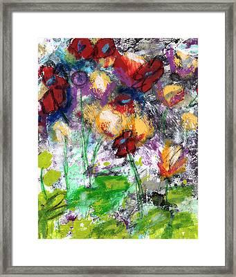 Wildest Flowers- Art By Linda Woods Framed Print by Linda Woods