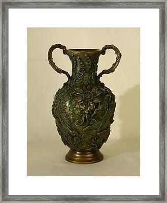 Wildflower Vase Balsamroot Side Framed Print by Dawn Senior-Trask