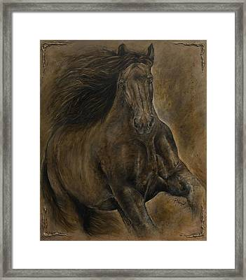 Wildheart....sang To Me Framed Print by Paula Collewijn -  The Art of Horses