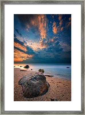 Wildwood Sunset Framed Print by Rick Berk