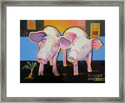 Wiley And  Mut Framed Print by Christine Belt