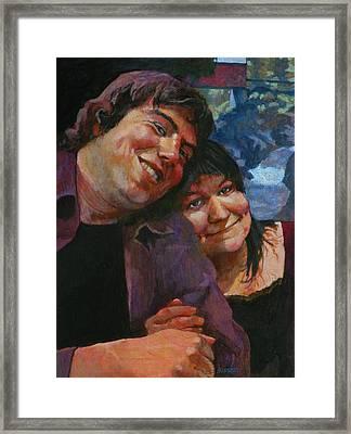 Will And Britta Framed Print by Robert Bissett
