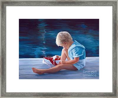 Will It Sail Framed Print by Laurie Hein