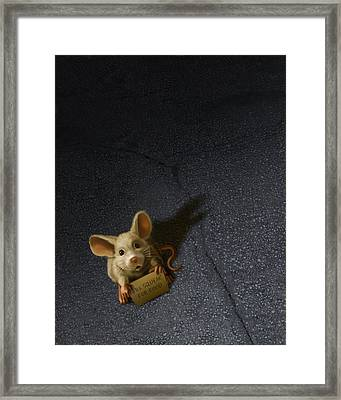 Will Squeak For Food Framed Print by Vanessa Bates