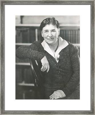 Willa Cather At The Time She Wrote Lucy Framed Print by Everett