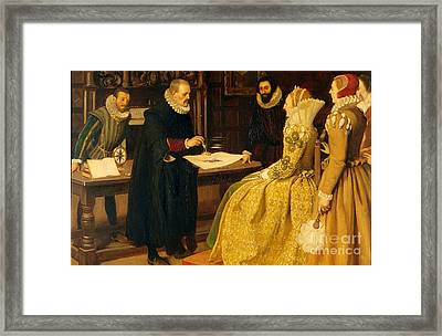 William Gilbert Demonstrating Magnet Framed Print by Wellcome Images