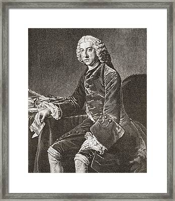 William Pitt, 1st Earl Of Chatham, 1708 Framed Print by Vintage Design Pics