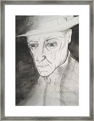William S. Burroughs Framed Print by Darkest Artist