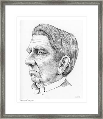 William Seward Framed Print by Greg Joens