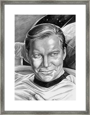 William Shatner - Captain Kirk Framed Print by Iracema Marianne Muller