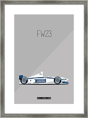 Williams Bmw Fw23 F1 Poster Framed Print by Beautify My Walls