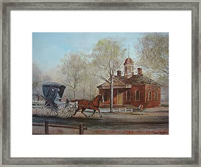 Williamsburg Courthouse Framed Print by Charles Roy Smith