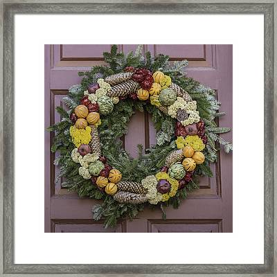 Williamsburg Wreath 17 Framed Print by Teresa Mucha