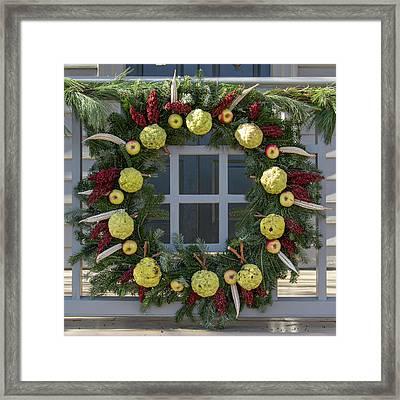 Williamsburg Wreath 83 Framed Print by Teresa Mucha