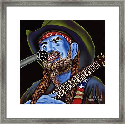 Willie Framed Print by Nannette Harris