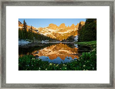 Willow Lake Sunrise Framed Print by Aaron Spong