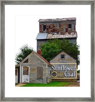 Wilson Kansas Grain Mill #1 Framed Print by Lynne and Don Wright