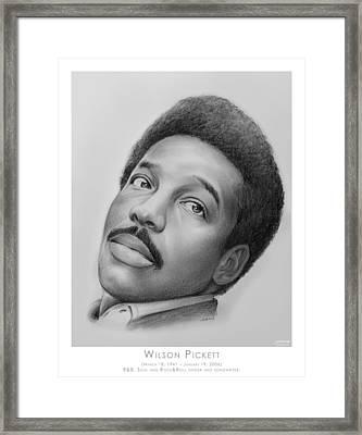 Wilson Pickett Framed Print by Greg Joens