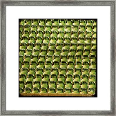 Wimbledon Seats Framed Print by Sonia Stewart