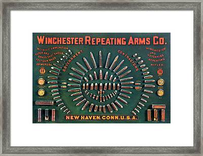 Winchester 1884 Cartridge Board Framed Print by Unknown
