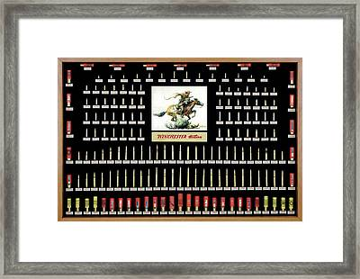 Winchester Ammunition Cartridge Board Framed Print by Unknown