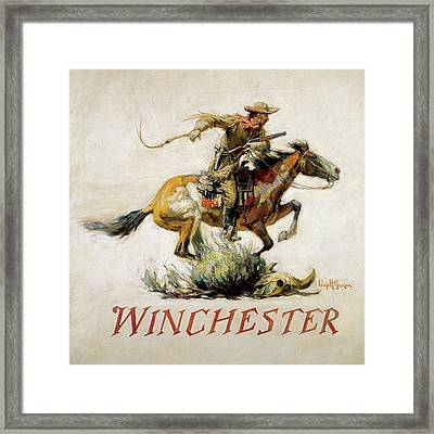 Winchester Horse And Rider  Framed Print by Phillip R Goodwin