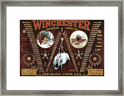 Winchester W Cartridge Board Framed Print by Unknown