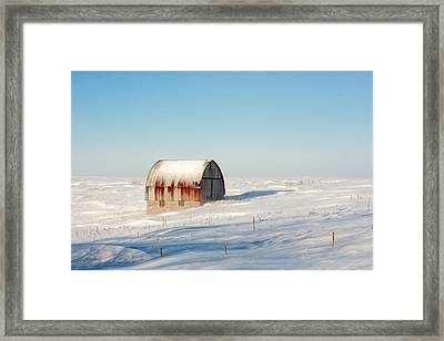 Wind Draped Framed Print by Todd Klassy