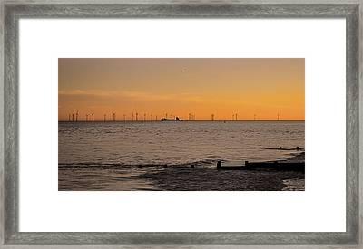 Wind Farm Framed Print by Martin Newman