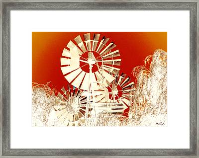 Wind In The Willows Framed Print by Holly Kempe