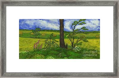 Wind Over The Fields Framed Print by Anna Folkartanna Maciejewska-Dyba