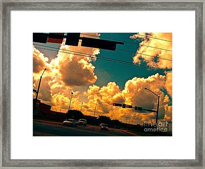 Wind Power Not Oil Power Framed Print by Chuck Taylor