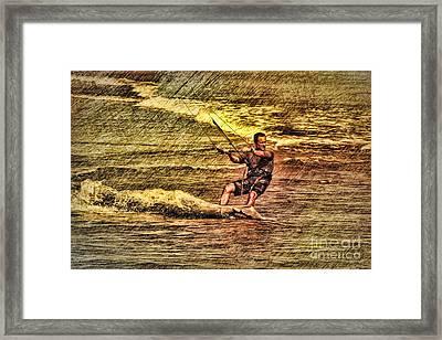 Wind Surfing Framed Print by Deborah Benoit