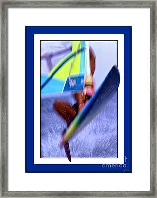 Wind Surfing Framed Print by Jeff Breiman