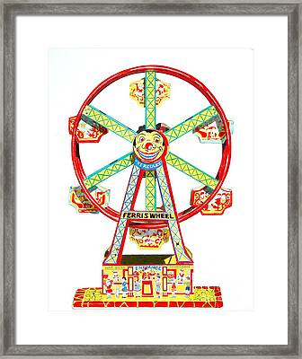 Wind-up Ferris Wheel Framed Print by Glenda Zuckerman