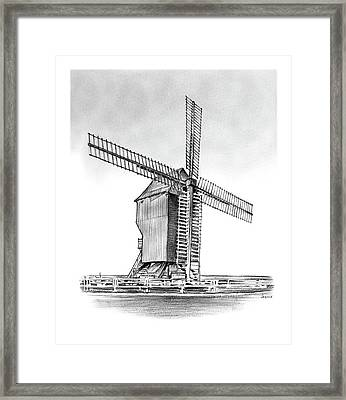 Windmill At Valmy Framed Print by Greg Joens