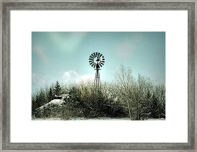 Windmill Keeps On Turning Framed Print by William Tasker