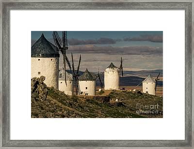 Windmills Of La Mancha Framed Print by Heiko Koehrer-Wagner