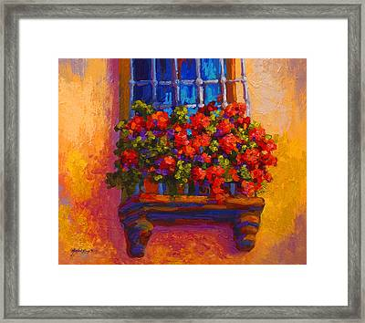Window Box  Framed Print by Marion Rose