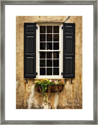 Window Dressing Framed Print by Jerry Fornarotto