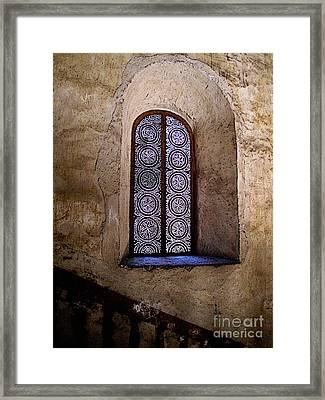 Window In Lace Framed Print by Mexicolors Art Photography