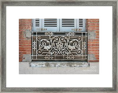 Window In Toulouse Framed Print by Elena Elisseeva