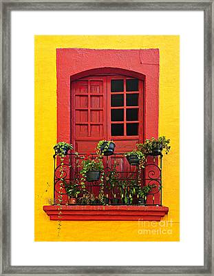Window On Mexican House Framed Print by Elena Elisseeva