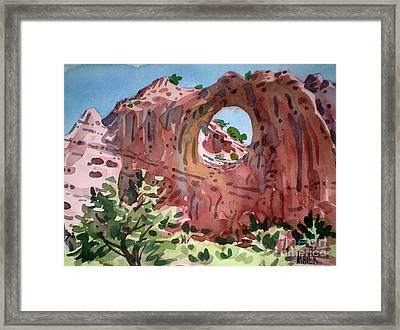 Window Rock Framed Print by Donald Maier