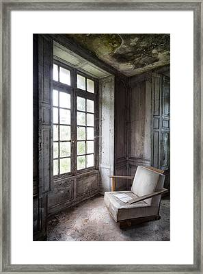 Window Seat - Abandoned Building Framed Print by Dirk Ercken