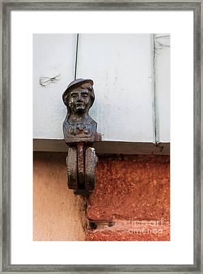 Window Shutter Holder Framed Print by Elena Elisseeva